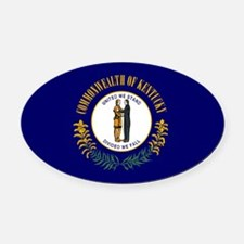 Kentucky.png Oval Car Magnet