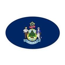 Maine.png Oval Car Magnet