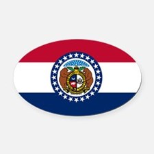 Missouri.png Oval Car Magnet