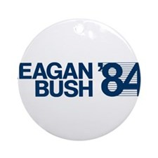 REAGAN BUSH 84 (bumper sticker style) Ornament (Ro