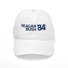 REAGAN BUSH 84 (bumper sticker style) Baseball Cap