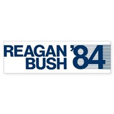 REAGAN BUSH 84 (bumper sticker style) Bumper Sticker