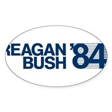 REAGAN BUSH 84 (bumper sticker style) Decal