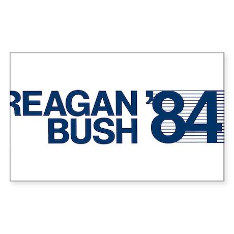 REAGAN BUSH 84 (bumper sticker style) Sticker (Rec