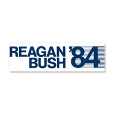 REAGAN BUSH 84 (bumper sticker style) Car Magnet 1