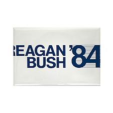 REAGAN BUSH 84 (bumper sticker style) Rectangle Ma
