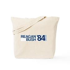 REAGAN BUSH 84 (bumper sticker style) Tote Bag