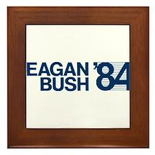 REAGAN BUSH 84 (bumper sticker style) Framed Tile