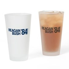 REAGAN BUSH 84 (bumper sticker style) Drinking Gla