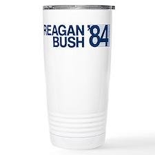 REAGAN BUSH 84 (bumper sticker style) Travel Mug