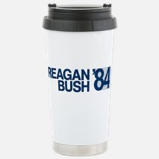 REAGAN BUSH 84 (bumper sticker style) Travel Mug