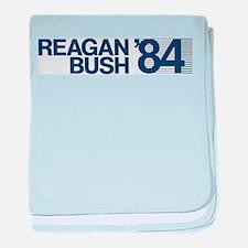 REAGAN BUSH 84 (bumper sticker style) baby blanket
