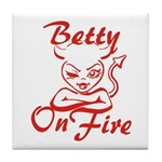 Betty On Fire Tile Coaster