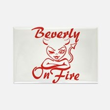 Beverly On Fire Rectangle Magnet