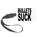 bulletssuck.png Large Luggage Tag