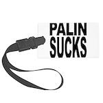 palinsucksblk.png Large Luggage Tag