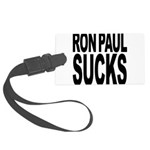 ronpaulsucksblk.png Large Luggage Tag