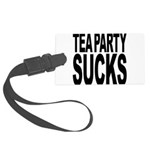 teapartysucks.png Large Luggage Tag