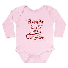 Brenda On Fire Long Sleeve Infant Bodysuit