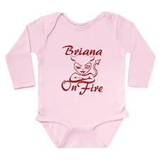 Briana On Fire Long Sleeve Infant Bodysuit