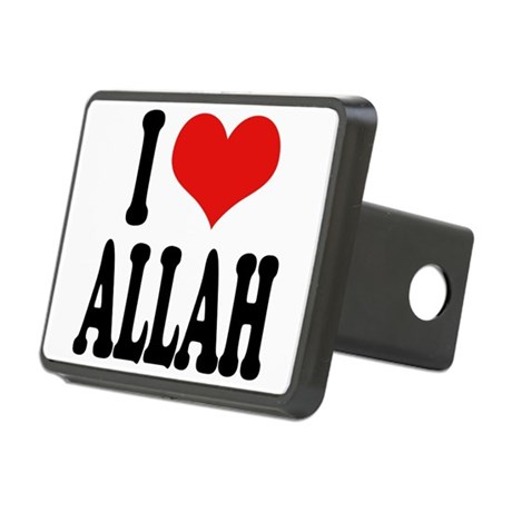 iloveallahblk.png Rectangular Hitch Cover