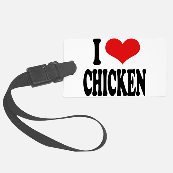ilovechickenblk.png Luggage Tag