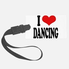 ilovedancingblk.png Luggage Tag