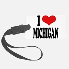 ilovemichiganblk.png Luggage Tag