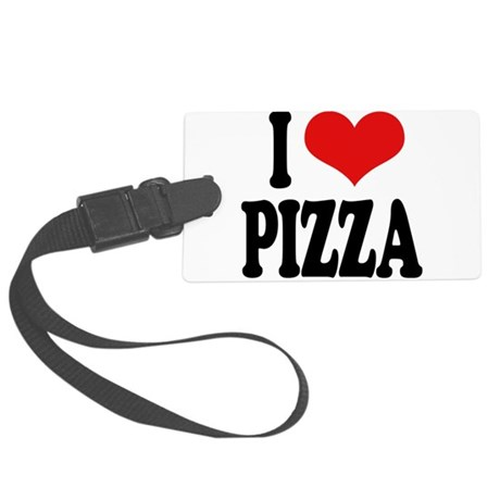 ilovepizzablk.png Large Luggage Tag