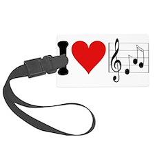 4-3-ilovemusicblk.png Luggage Tag