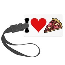 3-ilovepizzablk.png Luggage Tag