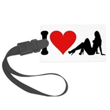 3-ilovestrippersblk.png Luggage Tag