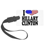 ilovehillaryclintonblk.png Large Luggage Tag