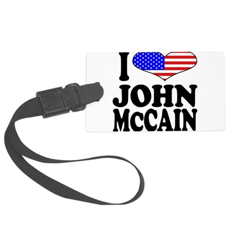 ilovejohnmccainblk.png Large Luggage Tag