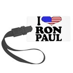 iloveronpaulblk.png Large Luggage Tag