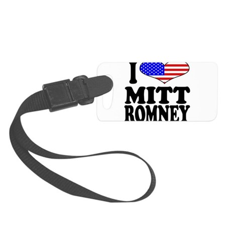 ilovemittromneyblk.png Small Luggage Tag