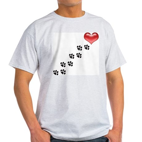 paw prints to a heart.001 T-Shirt