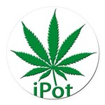 iPot.png Round Car Magnet
