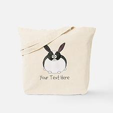 Dutch Rabbit. Custom Text. Tote Bag