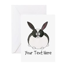 Dutch Rabbit. Custom Text. Greeting Card