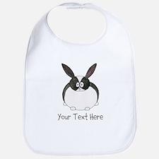 Dutch Rabbit. Custom Text. Bib