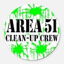 area51cleanupcrewblk.png Round Car Magnet