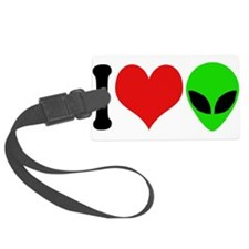 ilovealiensblk.png Luggage Tag