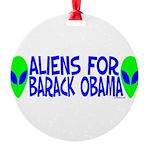 aliensforbarackobama.png Round Ornament