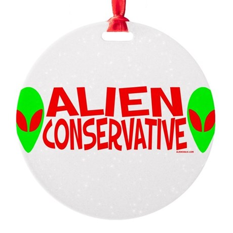 alienconservative.png Round Ornament