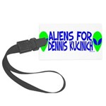 aliensfordenniskucinich.png Large Luggage Tag