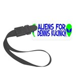 aliensfordenniskucinich.png Small Luggage Tag