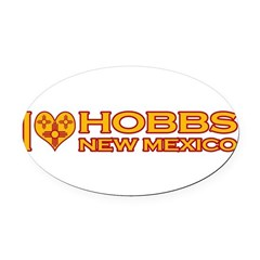 izialove-hobbs-nm.png Oval Car Magnet
