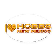 izialove-hobbs-nm.png Oval Car Magnet
