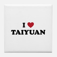 I Love Taiyuan Tile Coaster